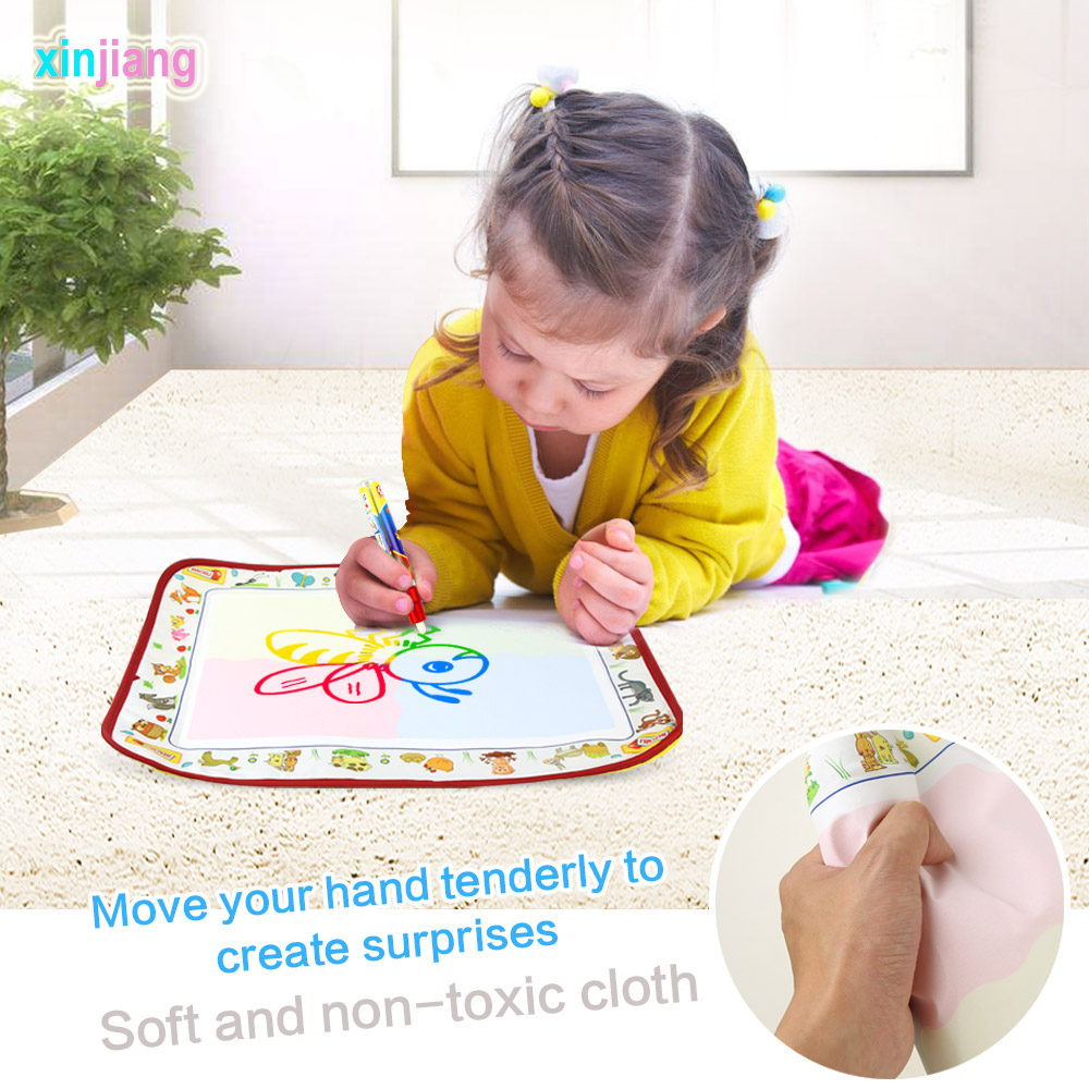 38.5cm*29cm Magic Water Doodle Mats &  Pen Water Paint Learning Coloring Mat Drawing Rug Children Gift Toys For Kids