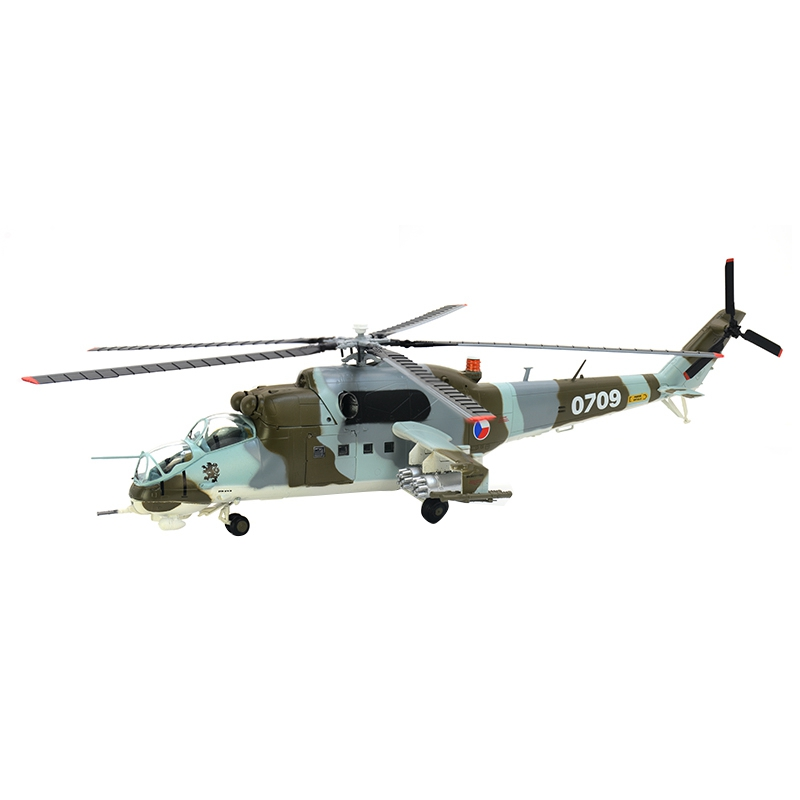 Pre-built 1:72 Mi-24 Helicopter Galina Hobby Collectible Finished Plastic Aircraft Model