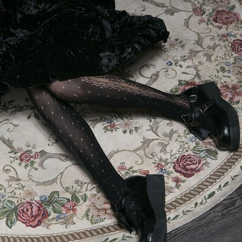 Korean retro Lolita girl court lace pantyhose lolita slim beautiful sexy leggings women