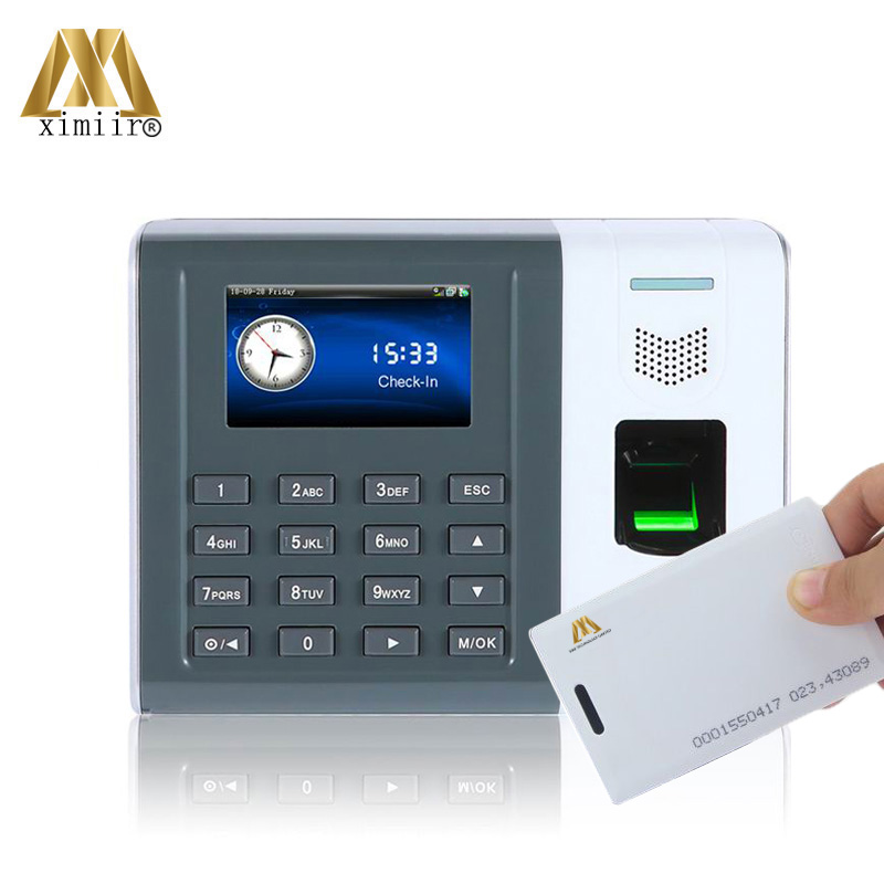 XM100 Biometric Fingerprint Time Clock TCP/IP & RS232/485 Communication 125KHz RFID Card Fingerprint Time Recording