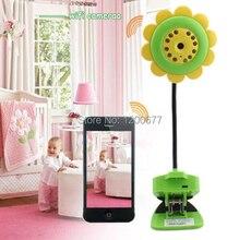 Blume wifi babyphone radio babysitter ip-kamera IR nachtsicht kindermädchen ip babyphone unterstützung IOS/Android smartphone ipad