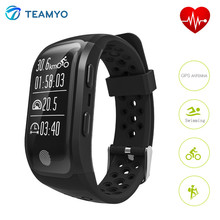 Teamyo S908 Smart Band GPS умные сердечного ритма IP68 Водонепроницаемый фитнес-трекер умный Браслет Шагомер Sleep Monitor