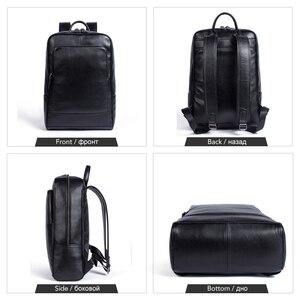Image 3 - WESTAL 100% Genuine Leather Mens Backpack men Male Business bag schoolbag man fashion mens backpacks for male Leather 8110