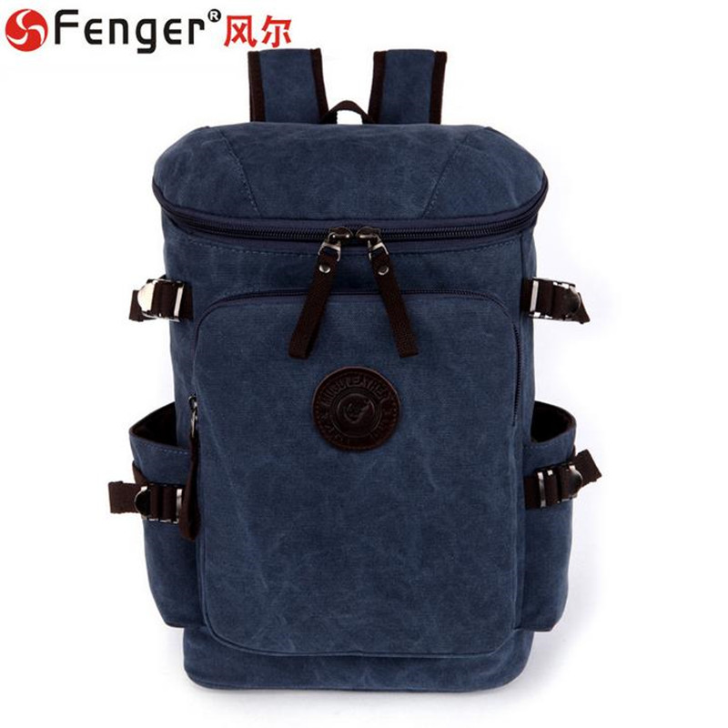 Men Backpack High quality canvas bag Dark blue double shoulder travel large bag Round Multi-purpose school bag ombre chunky crochet knit mermaid blanket throw for kids