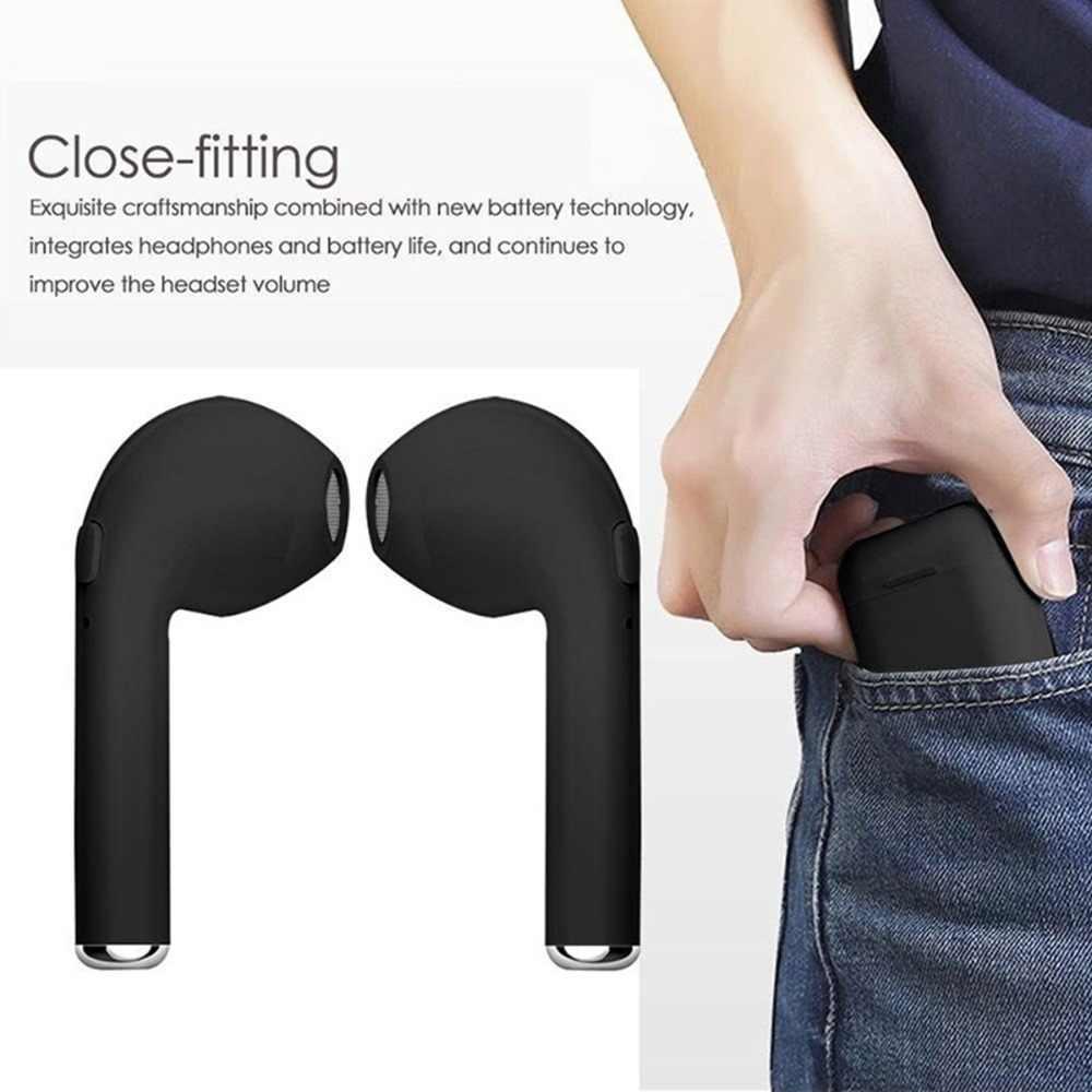 I7s Tws Bluetooth 5.0 Earphone Earbud Stereo Nirkabel Olahraga Headset dengan Pengisian Kotak Mikrofon Portable untuk IOS Android