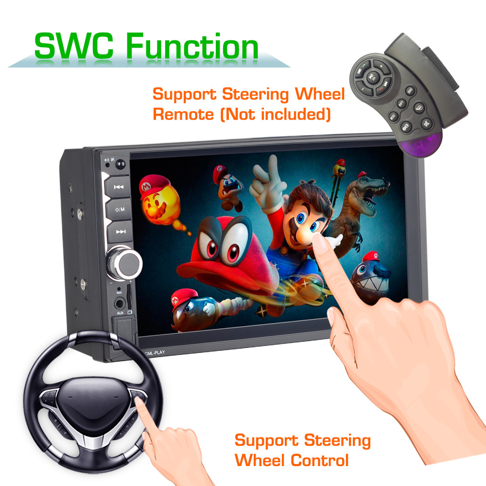 Car Rear View Monitor Reversing Camera Parking System Car Radio Multimedia Video Player  Steering Wheel Remote Control Car Mp5(China)