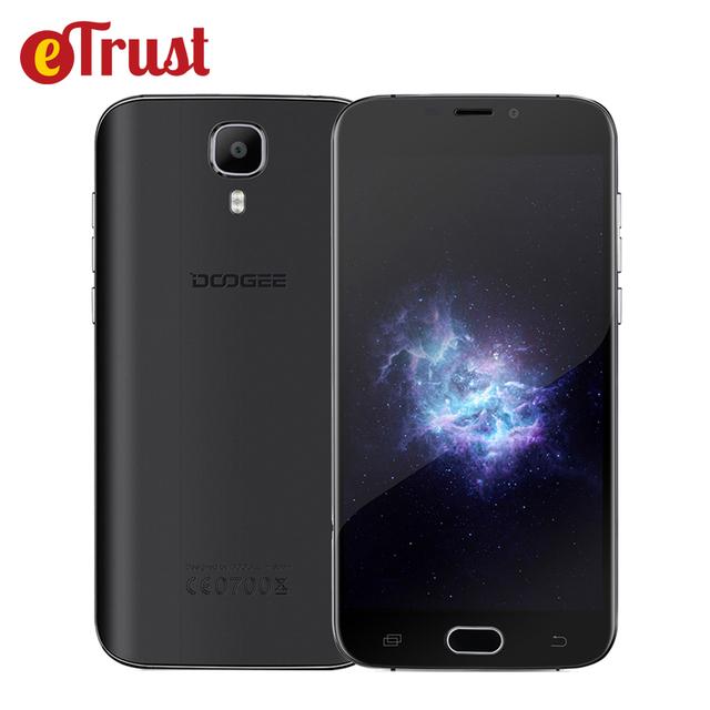 Doogee x9 mini 3g teléfono móvil 5.0 pulgadas hd ips mtk6580 Quad Core Android 6.0 1 GB RAM 8 GB ROM 5MP Lector De Huella Dactilar Smartphone