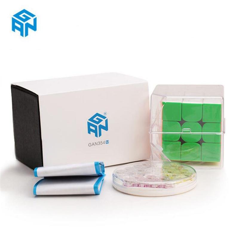 Date D'origine Gan354M 3x3x3 Magnétique Cube Gans 3x3x3 Cube magique Professionnel GAN 354 M 3x3 Vitesse Cube Twist jouets éducatifs