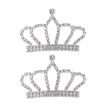 2pcs Crown Shape Alloy Crystal Embellishments Jewelry Making Findings for DIY  Hair Accessories(China) 74e517ebd163