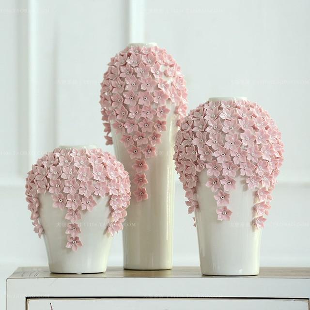Ceramic Vase Home Decoration Modern Fashion Handmade Flower Vase