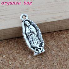 Virgin Mary alloy Charms 150pcs/lots Antique Silver Pendants Fashion Jewelry DIY 8.5x22.5MM A-388