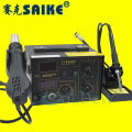 high quakity 220V/110V Saike 852D++ 2 in 1 Hot Air Rework Station soldering station with Supply air gun rack