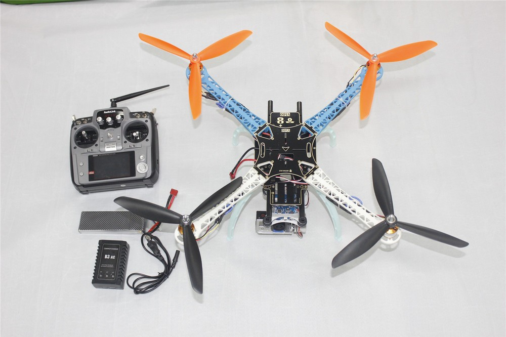 JMT DIY Drone Upgraded Full Kit S500-PCB 1045 3-Propeller 4axle Multi QuadCopter UFO RTF/ARF with 2-axle Camera Gimbal