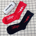5 pairs autumn winter new lightning icon men and women socks casual casual Towel bottom cotton hiphop socks Meias women unisex