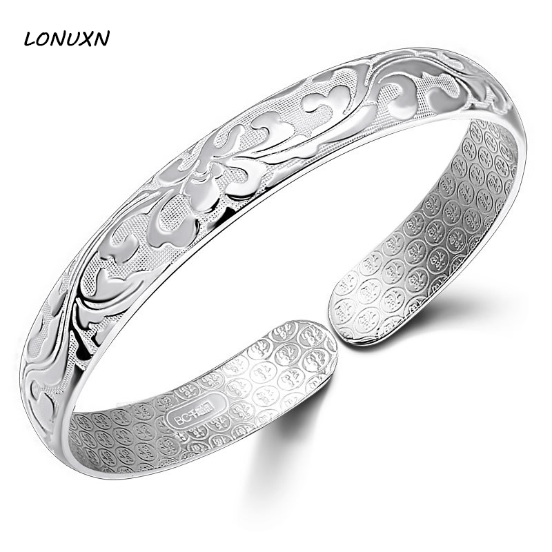 Size adjustable Bangle & Bracelet female pure Authentic 100% 929 Sterling Silver Luxury Jewelry girlfriend gift