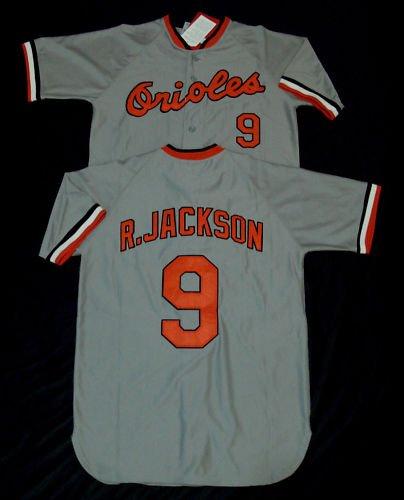 Baltimore Orioles Throwback Jerseys  9 Reggie Jackson Blue Baseball jersey  free shipping + Paypal 98689beb0e0