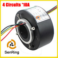 Through hole/bore slip ring 4 circuits/wires contact 10A with 35mm inner size