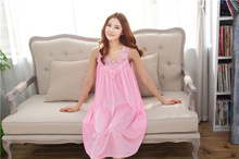 Nightgown Nightwear Women Dress Sexy Lingerie Nightdress sleepwear leisurewear sleepdress women sleepshirt Free Shipping