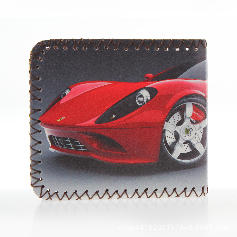New High Quality Brands Cute Car Pattern Kids Shell Purse Zipper Card Holding men Short Wallet For Members of the car
