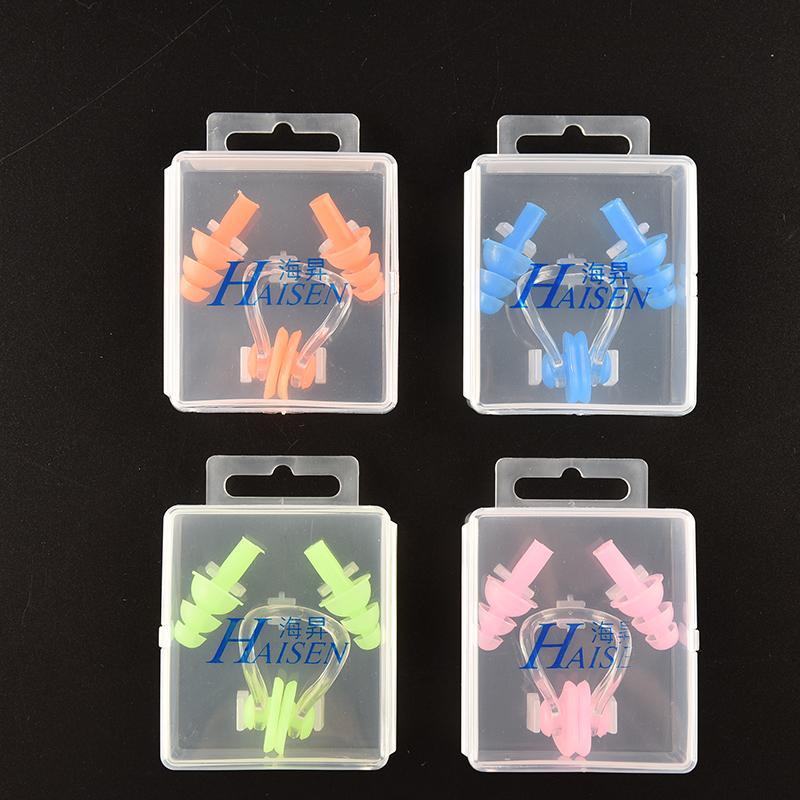 Cute Practical Nose Clip Earplug Soft Silicone Swimming Watertight Set  Swimming Accessories