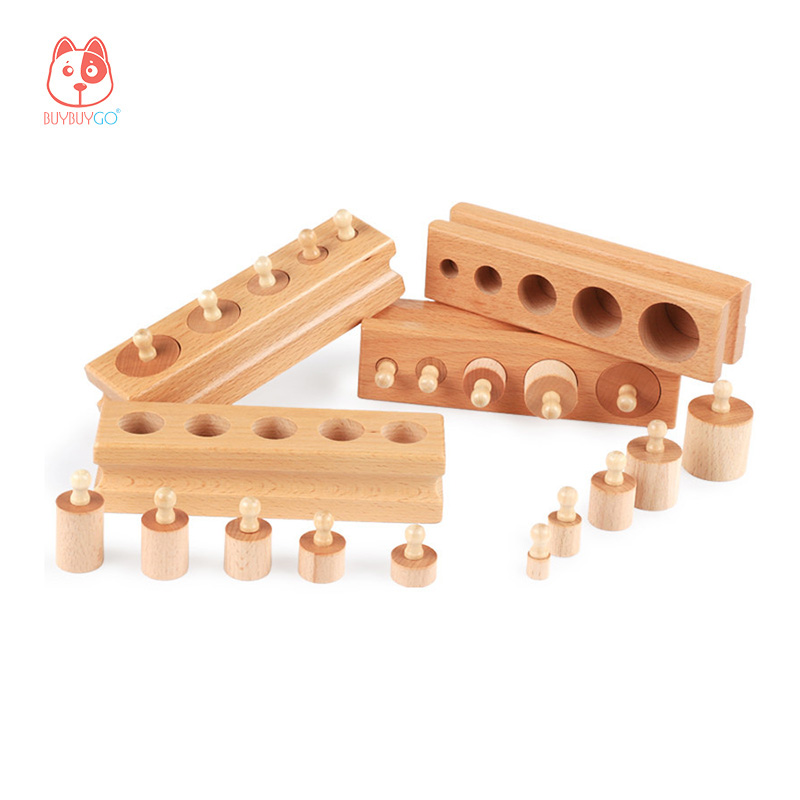 Wood Series Building Blocks Home Edition Cylindrical Socket Toy Early Childhood Intelligence Sensory Training Educational Toys цена