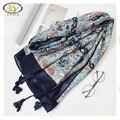 1 UNID 180*100 CM 2016 Otoño Nuevo Diseño Floral Suave de Algodón de Lino de Las Mujeres Bufanda Larga de La Mujer Nueva Viscosa algodón Grandes Chales Pashminas