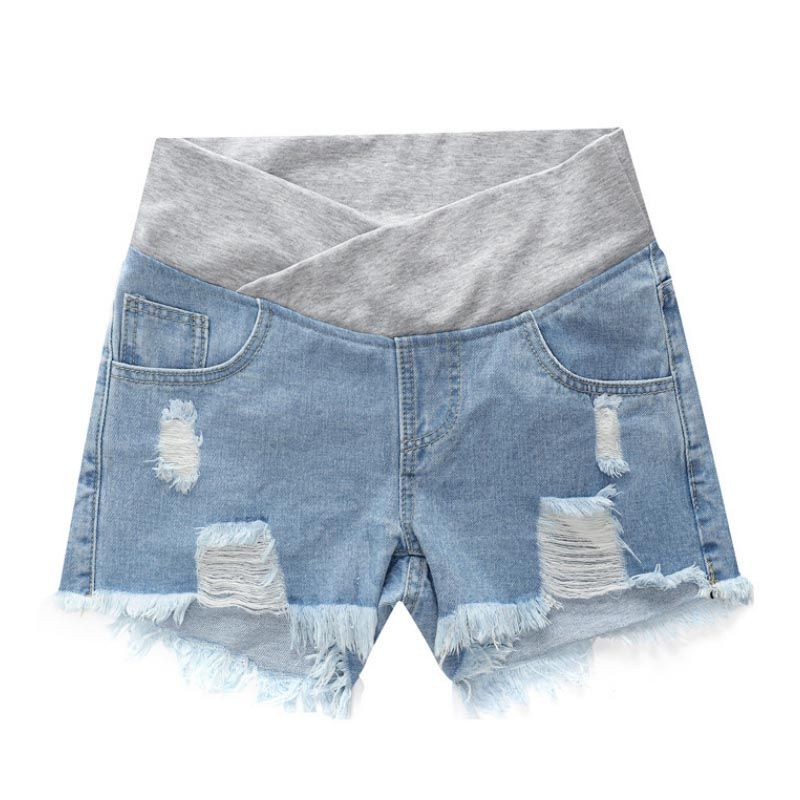 Pregnant Women Maternity Wear Low-waisted Denim Jean Hole Shorts Prop Belly Elastic Waist Pregnancy Shorts Gravidas SummerPregnant Women Maternity Wear Low-waisted Denim Jean Hole Shorts Prop Belly Elastic Waist Pregnancy Shorts Gravidas Summer