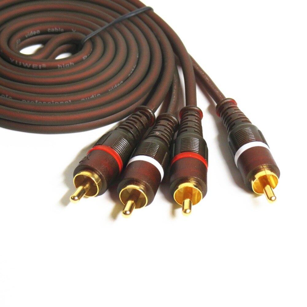 Sauerstofffreies kupfer 99.99% AV Kabel RCA to RCA Jack Audio Kabel Männlich zu Männlichen CINCH Aux Kabel 1,5 mt 2 mt 3 mt 5 mt Stereo Rca Kabel