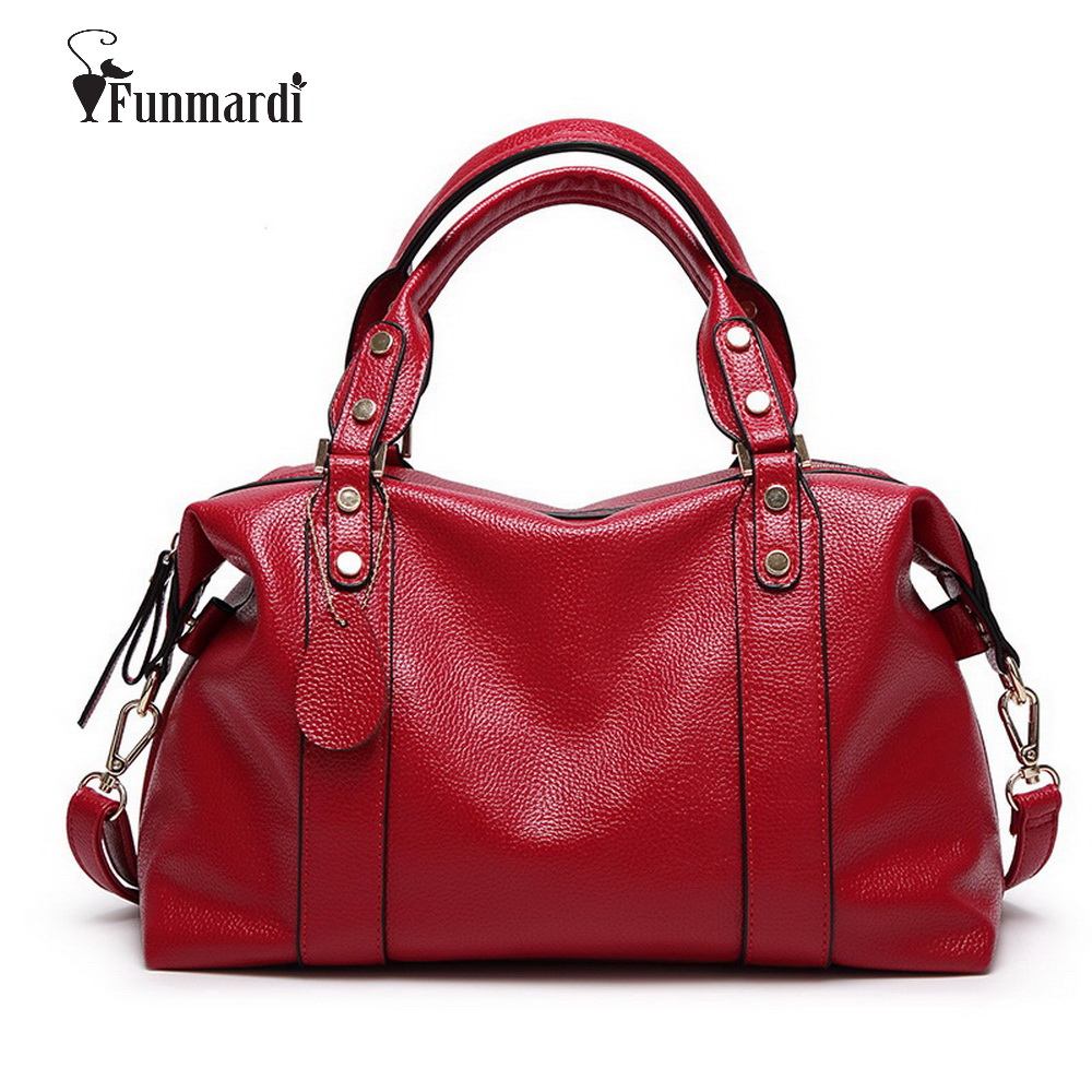 FUNMARDI Luxury PU Leather Women Handbags Brand Design Women Bags High Quality Shoulder Bag Crossbody Pillow Bags Tote WLHB1490