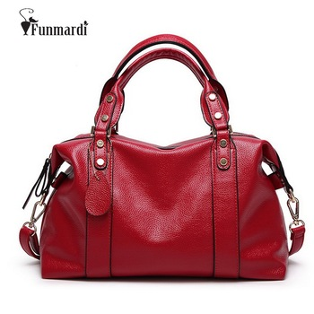FUNMARDI Luxury PU Leather Women Handbags Brand Design Women Bags High Quality Shoulder Bag Crossbody Pillow Bags Tote WLHB1490 2017 soft leather lattice stitching 3 layers of space women tote bags handbags women famous brand casual crossbody bag