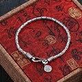 Beier 925 prata esterlina pulseira homem pulseira da moda jóias clássico chain link simples sr-sl002