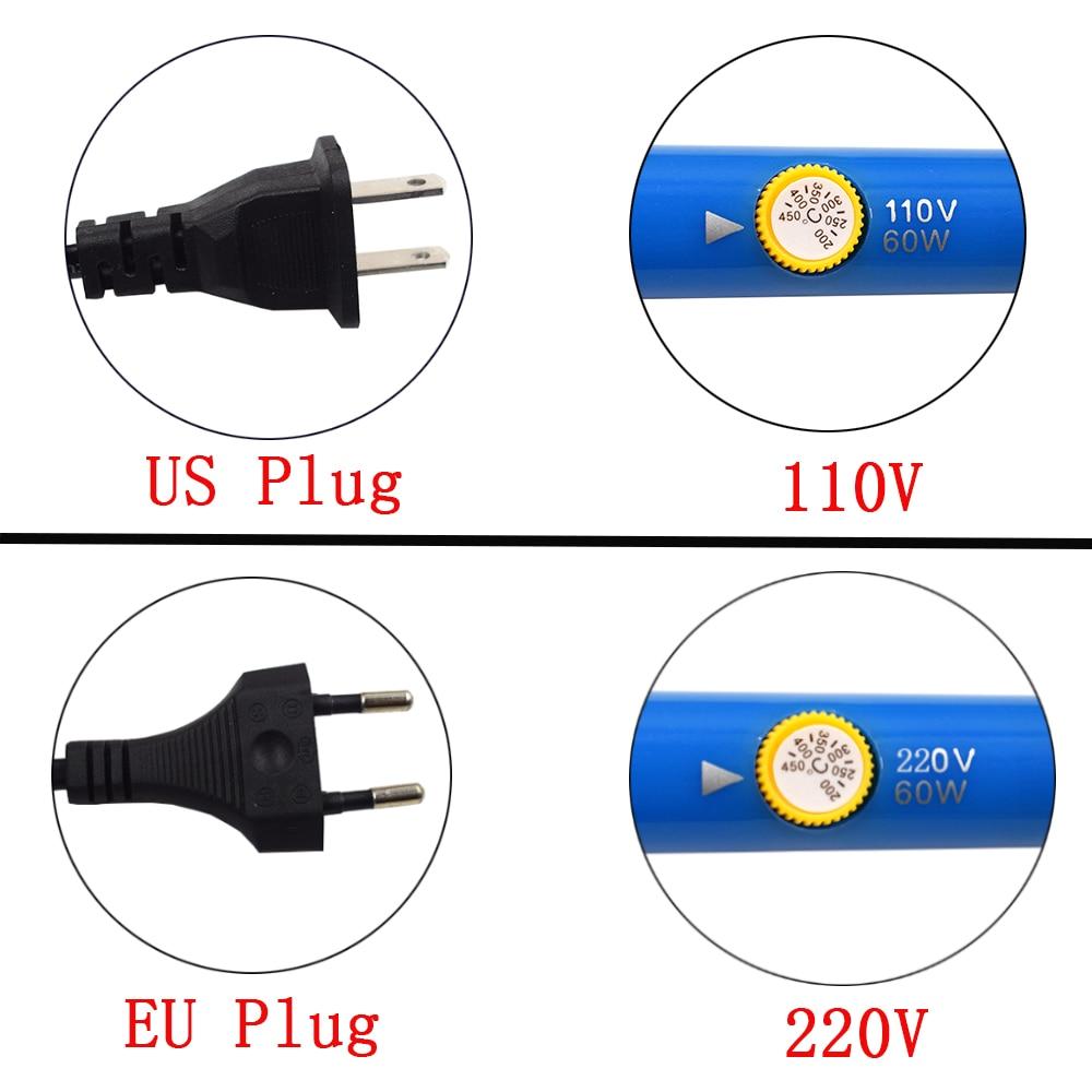 Chanseon EU / US Plug 60W Temperatura regolabile Kit saldatore - Attrezzatura per saldare - Fotografia 6