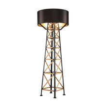 Buy tower floor lamp and get free shipping on aliexpress post modern creative tower floor lamp black white floor light metal wood structure diy install minimalis aloadofball Images