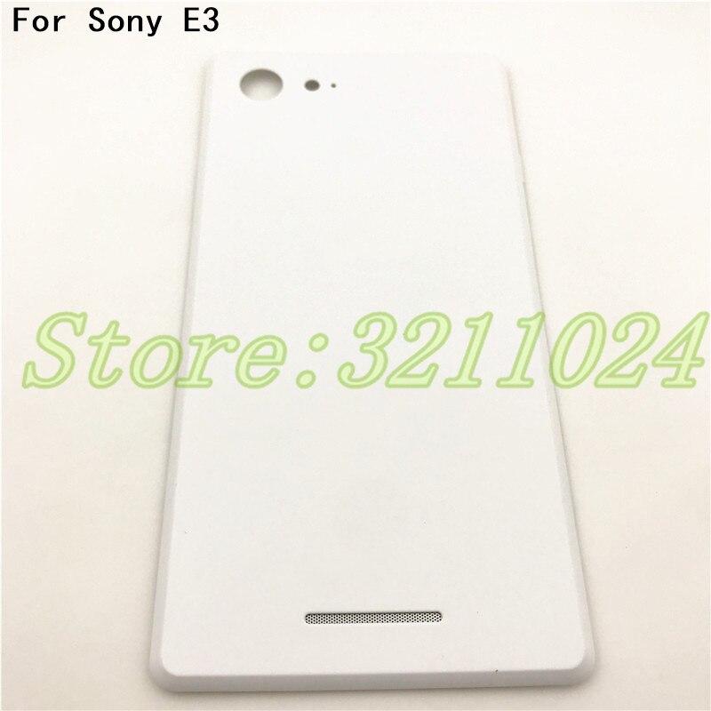 4,5 дюйма Новая задняя крышка для Sony Xperia E3 D2203 D2206 Задняя крышка батареи Корпус Дверь задняя панель чехол с NFC