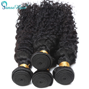 Panse Hair Indian Deep Wave Curly Hair Weaving 100% Human Hair Extension 3 Bundles Per Lot 100 g 1B Hair Bundles