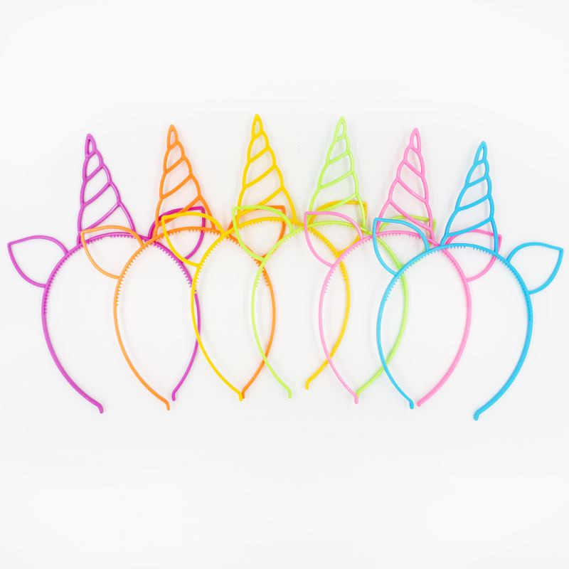 6pcs Unicorn Party Decoration Unicorn Headband Birthday Party Decorations Kids Baby Shower Kids Favors Festive Party Supplies