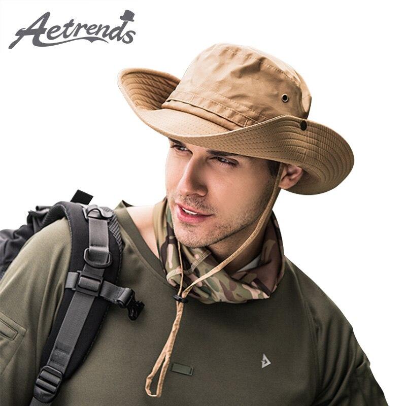 [AETRENDS] Wide Brim Quick-Dry Hiking Bucket Hats for Men Women Summer Hat Sun Caps Cap Z-6745