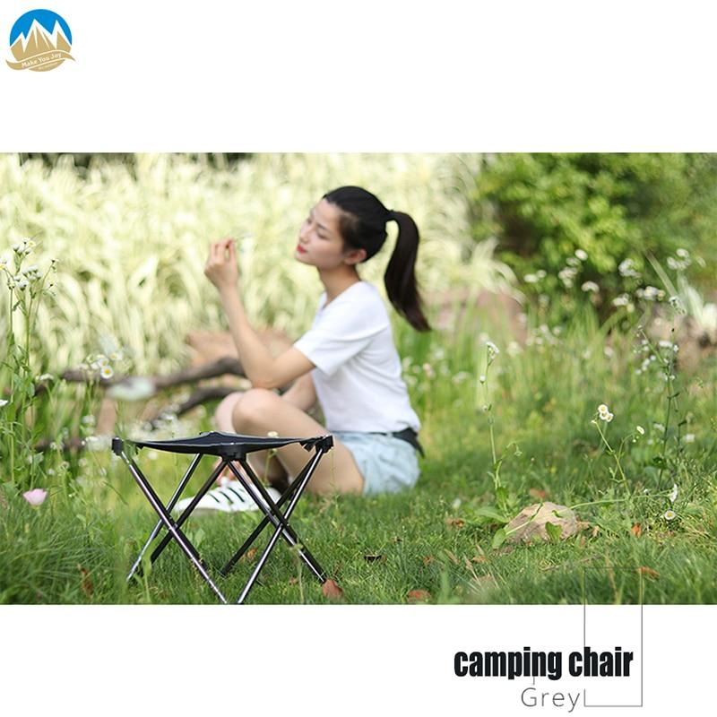 Large Portable Folding Camp Chair Mini Camp Stool Lightweight Camping Stool
