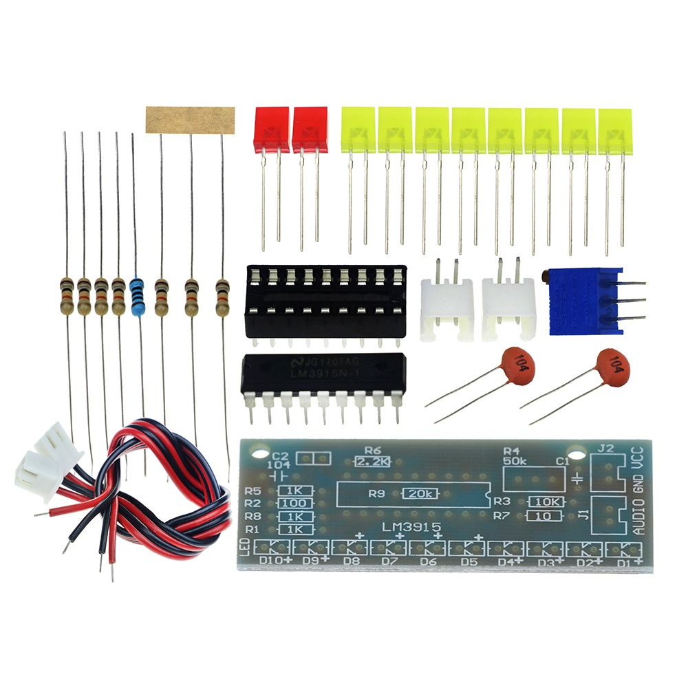 Dc 9v 12v Audio Indicator Suite Electronic Diy Kit Lm3915 Vu Meter Using A Circuit Diagram Level Production In Integrated Circuits From Components