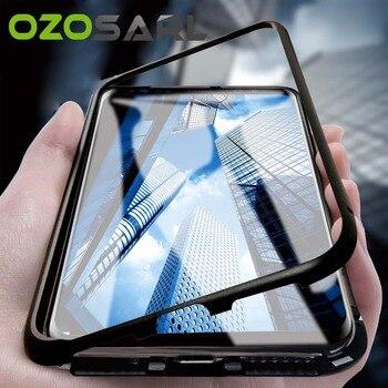 Für Samsung S9 S8 Fall 360 Volle Körper Metall Bumper für Samsung S9 S8 Plus Magnetische Fall Gehärtetes Glas für samsung Note 8 9 Fall