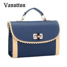 2016 Famous Brand Retro Women Handbag Fashion Pu Leather Tote Singel Shoulder Bag Brand Design Casual Cover Messenger Bag