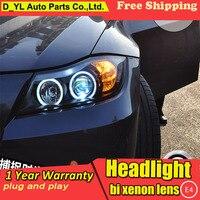 D_YL Car Styling for E90 318i 320i 325 Headlights 2005 2012 E90 LED Headlight DRL Lens Double Beam H7 HID Xenon bi xenon lens