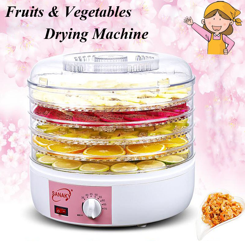 Household Nuts Dryer Fruits and Vegetables Dehydration Drying Machine Pet Food Dryer S6 household fruits vegetables herbs and pet snacks automatic timed mini dehydration air dried machine 4 floors