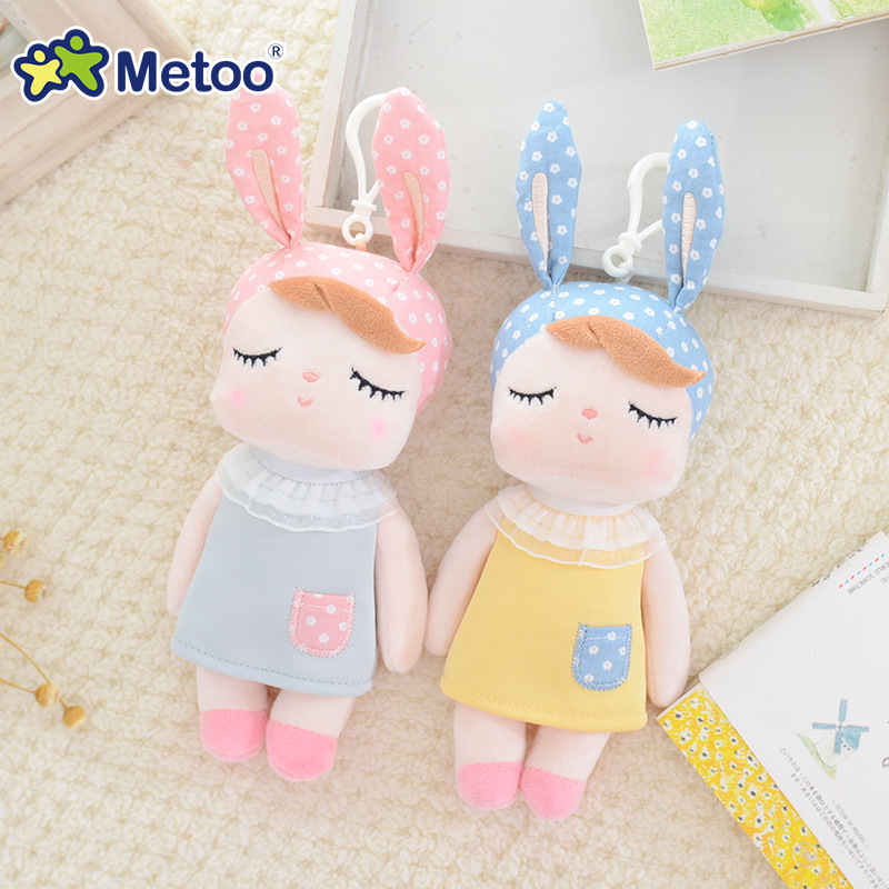 Mini Kawaii Plush Stuffed Animal Cartoon Kids Toys for Girls Children Baby Birthday Christmas Gift Angela Rabbit Metoo Doll rabbit plush keychain cute simulation rabbit animal fur doll plush toy kids birthday gift doll keychain bag decorations stuffed