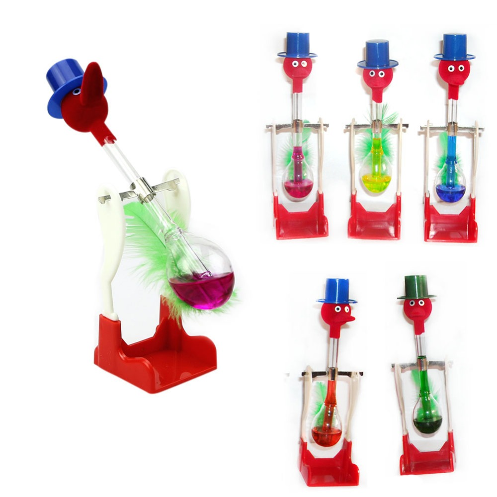 Top Quality 1Pc Non-Stop Liquid Glass Drinking Lucky Bird Duck Desk Toy Perpetual Motion New