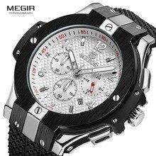 MEGIR montre chronographe de Sport pour hommes, à grand cadran créatif, montres à Quartz, style militaire, horloge