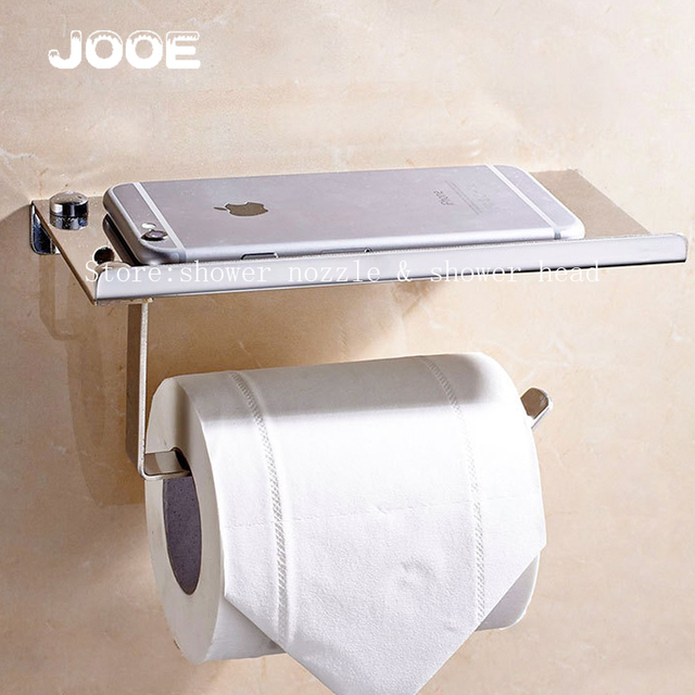 JOOE New Arrival Stainless Steel 304 Toilet Paper Holder with Mobile Phones  Holder Bathroom Accessories PortaAliexpress com   Buy JOOE New Arrival Stainless Steel 304 Toilet  . Porta Bathroom Fittings. Home Design Ideas