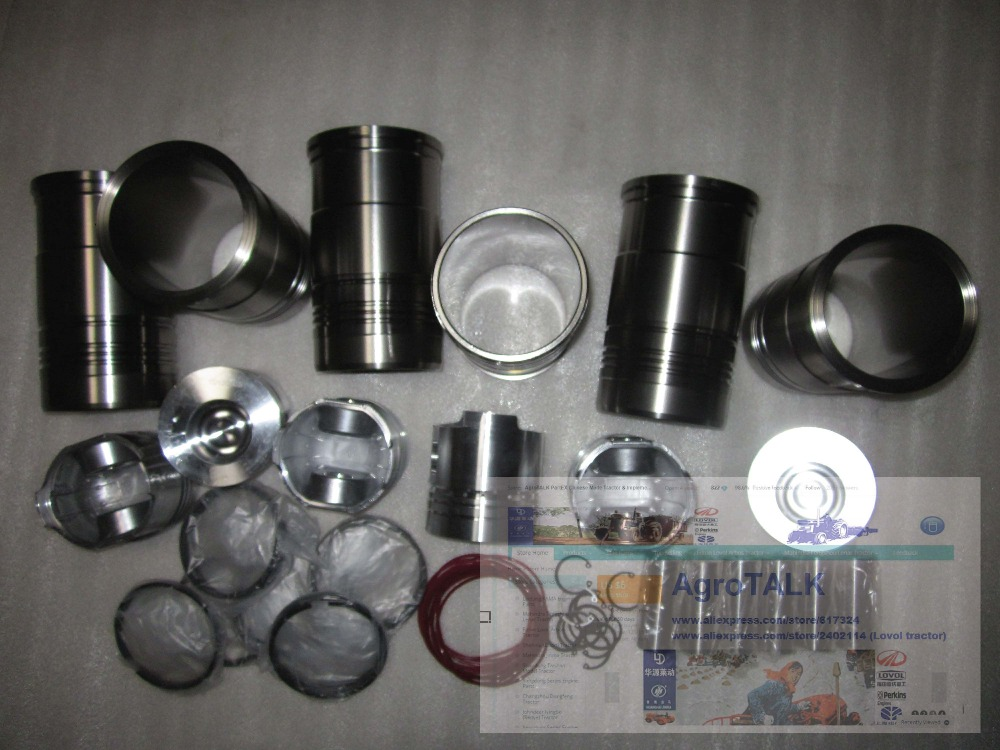 YTO DFH 1304 tractor parts, the set of piston groups for LRC6110T52B laidong km4l23bt for tractor like luzhong series set of piston groups with gaskets kit including the cylinder head gasket