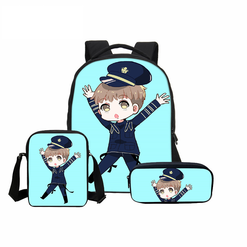 3 Pcs/set VEEVANV Girls School Bags Fashion Cartoon Mochila Children Backpack Combination Package Cute BTS 3D Printing Backpacks hynes eagle 3 pcs set 3d letter bookbag boys backpacks school bags children shoulder bag mochila girls exo printing backpack