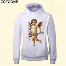 ZOTOONE Iron On Flower Angel Patches For Clothes Transfers DIY Applique Sticker Clothing T-shirt Decoration  C